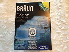 Braun AUTHENTIC Unopened Box Clean & Renew 3-Pack Lemon Refill Cartridges CCR3