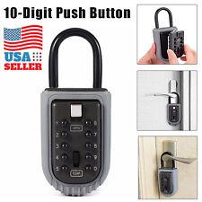 Portable Key Safe Box Lock 10 Digits Security Zinc Padlock Hide Keys Hang Door