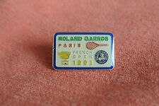 16530 PIN'S PINS TENNIS ROLAND GARROS PARIS FRENCH OPEN 1991
