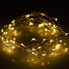 New 50 LED 5M Copper Wire LED Twinkle Light Warm White String Fairy Lights UK