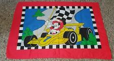 Vintage Dundee Disney Mickey Mouse Racecar Double Sided Pillowcase Usa Made