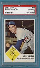1963 Fleer Sandy Koufax – #42 PSA 8! Dodgers! HOF!