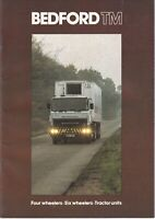 Bedford TM Brochure 1980 Includes Tractor Units/Six Wheelers/Four Wheelers