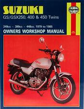 HAYNES Repair Manual - Suzuki Twins GS250/GSX250/GSX400 (80-85) GS450 (79-85)