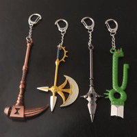 The Seven Deadly Sins Weapon Keychain Holy Axe Weapon Pendant Gift