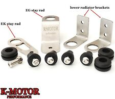 K-MOTOR BOLT-ON RADIATOR BRACKET KIT K-SWAP K-SERIES FITS 1992-2000 HONDA CIVIC