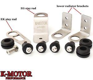K-MOTOR BOLT-ON RADIATOR BRACKET KIT K-SWAP K-SERIES FITS 1992-2000 HONDA CIVIC