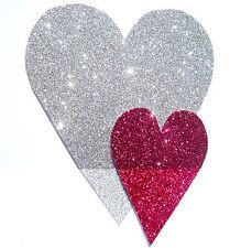 hecho a mano Tarjeta Cumpleaños Aniversario San Valentín Gracias con purpurina