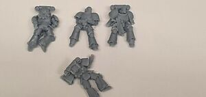 Warhammer 40k dead/wounded space marines primaris x 4. Chaos, bases, diorama.