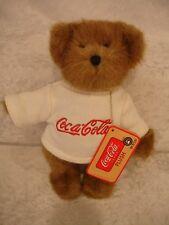 "Boyds Bears ""Billy""  #99238V-1  8"" Coca Cola Plush Bear Licensed~ 2005~QVC NWT"