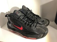 Nike Air Total Max Uptempo Mens Size 9.5 Black Red 366724-061 Pippen Retro