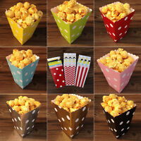 1-120X Polka Dots Paper Popcorn Boxes Birthday Party Wedding Favour Sweets Bags