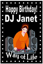 NORTHERN SOUL (DJ) (FEMALE) - FUNNY HAPPY BIRTHDAY PERSONALISED CARD (ANY NAME)
