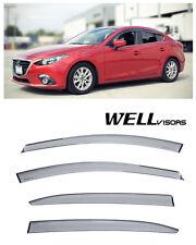 WellVisors Premium Series Side Vent Window Visors Deflectors For 14-Up Mazda 3