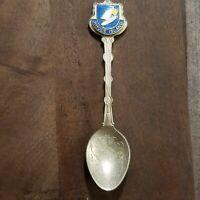 SILVER PLATED Souviner Spoon RHODE ISLAND UK Vintage Retro
