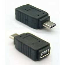 USB gender changer adapter / cable coupler, type-A 5-pin mini to type-B micro