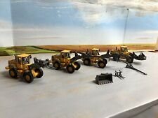 1:87 ho scale vehicles, 4 Motorart Volvo L70E Loaders W/ Exchangeable Attachment