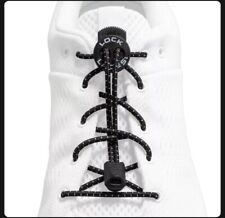 Lock Laces - TWO SETS Of Black!—Elastic No Tie Shoelaces, One Size Fits All