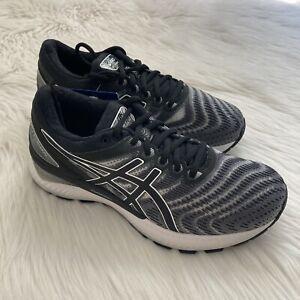 $120 NIB Women's Sz 8W Asics Gel Nimbus 22 Running Shoes in White/Black