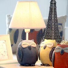 Owl desk lamp table lamp Art Deco Resin orange or Blue color