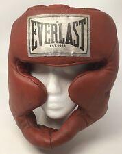 Everlast XL Adult Red Full Head Guard/Headgear - Boxing MMA 3506