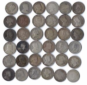 36 pc lot Canada Silver 10 ten cent coins  ***NO RESERVE***
