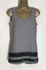 Dorothy Perkins Sample Black Striped Jersey Sleeveless Top Size 12