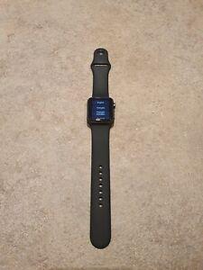 Apple Watch Sport 38mm Aluminum Case Black Sport Band - (MJ2X2TY/A)