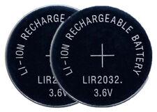 2 x LIR2032 Pila Batteria Rechargeable replace BR CR DL ECR KCR ML LIR 2032 3.6V