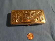 Ww1 Us Army Military Gillette Silver Officers Shaving Kit - Htf - Embossed