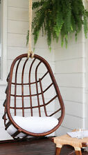 Deluxe Handmade Single Hanging Natural Rattan Egg Chair Swing