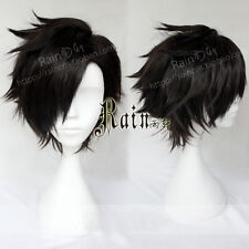 Haikyuu!! Tetsurou Kuroo Tetsuro Short Black Styled Anime Hair Cosplay Wig E139