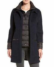Womens Soia & Kyo Black Wool Blend Lettie Quilted Detail Coat Jacket Size S NWTS