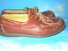 "CAMEL ACTIVE"" PORTO"" LEATHER BOAT SHOES ,BROWN MEN'S LACE UP  SIZE 8.5"