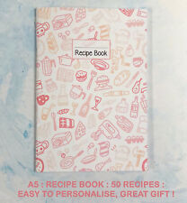 RECIPE PLANNER, DIETS, ALL YOUR FAVOURITE, RECORD 50, STUNNING,PERSONALISE,GIFT