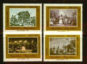Argentinien 1514/17 Gemälde postfrisch