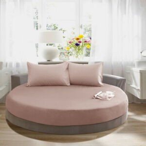 Baoblaze Round Bed Sheets Soft Pure Cotton