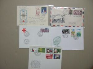 Five fdc and special covers with RED CROSS stamps