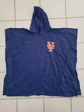 Vintage 1980s NY New York METS Windbreaker Raincoat Poncho Jacket with Hood