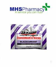 6x Fisherman's Friend Sugar Blackcurrant Menthol Lozenges Sweeteners 25g