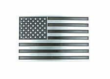 Patriotic American USA Flag Silver Vintage Finish Metal Belt Buckle