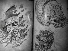 Libro De Diseños De Tatuajes a4 Talla 62 páginas de JAP Flash mezclados un libro muy bonito
