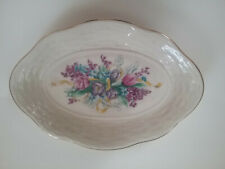 Lenox Floral Pattern, Gold Trim Oval Dish- approx.71/2 x 5 inches
