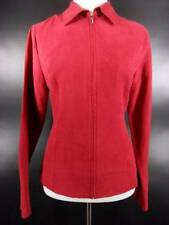 Beautiful Women's Small Croft & Barrow Maroon Zip-up Long Sleeve Fitted Jacket