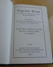 VINTAGE FREEMASONRY MASONIC NIGERIAN RITUAL BOOK 1939