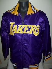 "LOS ANGELES LAKERS NBA STARTER Full Zip Jacket ""THE CAPTAIN"" PURPLE YELLOW"