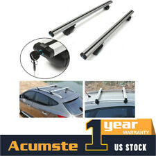48'' Aluminum Car Top Luggage Roof Rack Cross Bar Carrier Window Frame + Lock US
