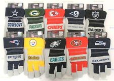 NFL Leather Work Gloves The Closer Fleece Lined