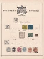 brunswick early stamps collection on album  page ref r8985