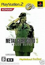 Used PS2  Metal Gear Solid 3 Snake Eater SONY PLAYSTATION JAPAN IMPORT